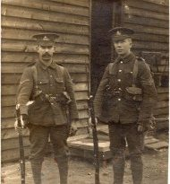 Soldiers of the Royal Warwickshire Regiment – postcard